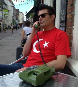 Me on phone on Rochester High Street